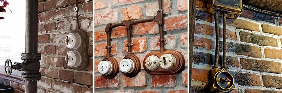 Разновидности проводки в стиле лофт