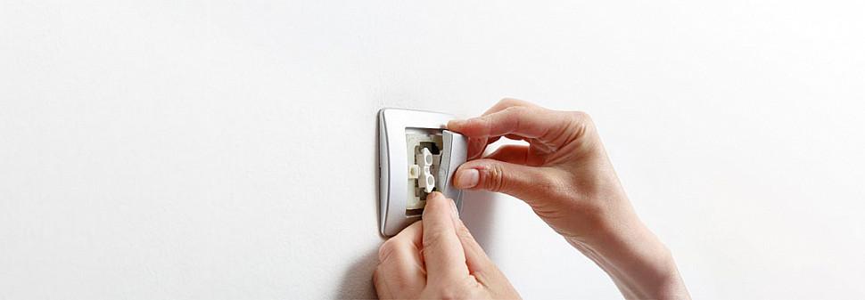Установка скрытого выключателя